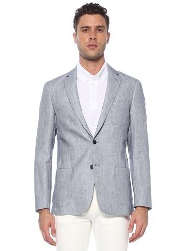 NetWork Erkek 1074701 Slim Fit Mikro Desenli Ceket Mavi